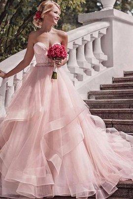 Organza Gericht Schleppe Natürliche Taile Ärmellos Geschichtes Ausgezeichnet Brautkleid