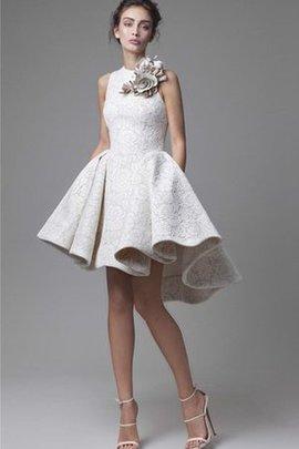 A-Line Hoher Ausschnitt Juwel Ausschnitt Schlichtes Abendkleid mit Applike