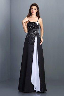 Ärmellos A-Line Spaghetti Träger Prinzessin Abendkleid mit Empire Taille