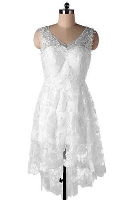 A-Line Chiffon Ärmelloses Brautkleid mit Applikation mit Bordüre