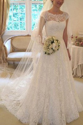 Graziös Prinzessin A-Linie Quadrat Ausschnitt Brautkleid mit Bordüre mit Applikation