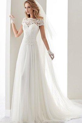 Reißverschluss Dom Bodenlanges Schlichtes Brautkleid mit Schleife