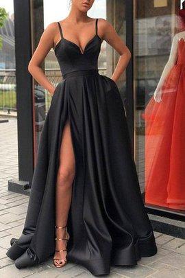 Prinzessin Ausgezeichnet A-Linie Satin Abendkleid mit Breiter Träger mit Rüschen