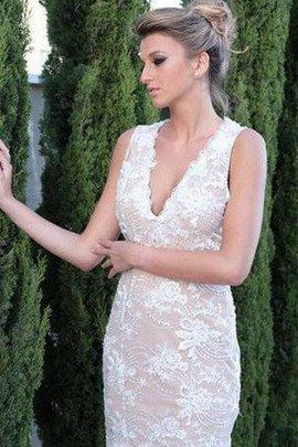 Ärmellos Gesticktes Reißverschluss Exklusive Kurzes Brautkleid