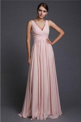 Prinzessin Natürliche Taile A-Linie Anständiges Brautjungfernkleid mit Rüschen