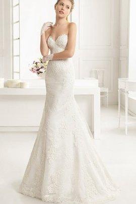 Spitze Dom Ärmelloses Brautkleid mit Bordüre mit V-Ausschnitt