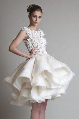 A-Line Empire Taille Duchesse-Linie Mini Brautkleid mit Rüschen