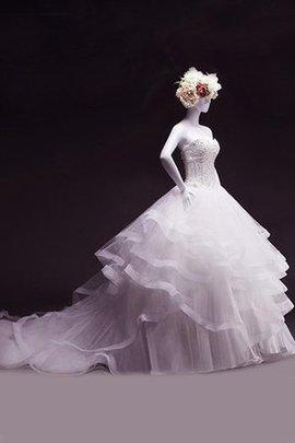 Spitze Duchesse-Linie Paillette Brautkleid mit Bordüre aus Chiffon