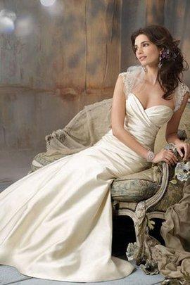 Meerjungfrau Taft Perlenbesetztes Gerüschtes Glamouröses Brautkleid