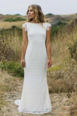 Klassisches Sweep Train Romantisches Legeres Brautkleid mit Reißverschluss