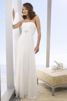 Trägerlos Beach Stil Taft Informelles Brautkleid mit Plissierungen