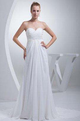 Keine Taille Ärmellos Herz-Ausschnitt Schick Bodenlanges Brautkleid