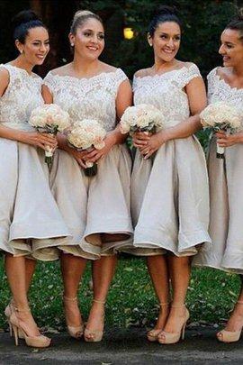A linie Ärmelloses Prinzessin Schulterfrei Knielanges Brautjungfernkleid