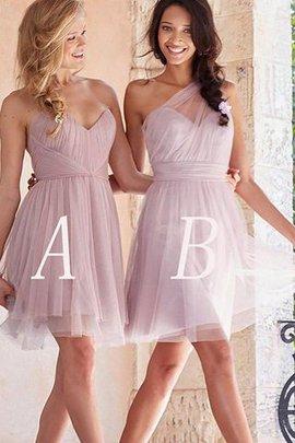 Prinzessin Ärmelloses Tüll Normale Taille A-Linie Brautjungfernkleid