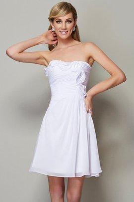 Normale Taille Chiffon Drapiertes A-Line Ärmelloses Brautjungfernkleid