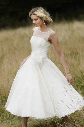 Normale Taille Schick Elegantes Brautkleid mit Blume mit Plissierungen