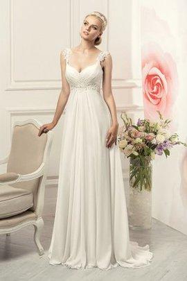 Gerüschtes Perlenbesetztes Schlichtes Sexy Brautkleid ohne Ärmeln