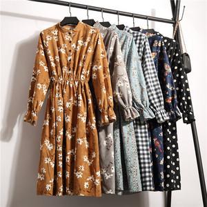 Lose Midi Lang Basic Strickjacke Baumwolle Kleid
