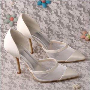 Vintage High Heels Frühling Sommer Tatsächliche Absatzhöhe 3.54 Zoll Hochzeitsschuhe y4LXz