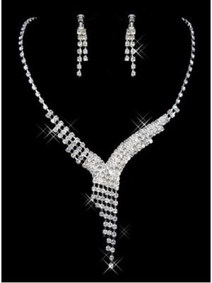 Dramatisch Luxuriös Mit Kristall Brautschmuck - Bild 1