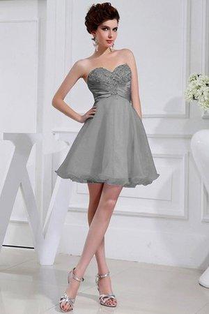 Normale Taille Ärmellos Organza Kurzes Brautjungfernkleid mit Herz-Ausschnitt 9HvIQ2ub