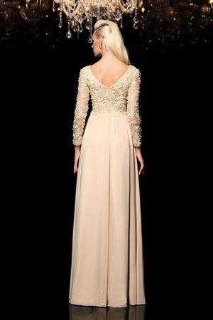 A-Line Prinzessin Bodenlanges Anständiges Abendkleid mit Langen Ärmeln 3n33nOHt