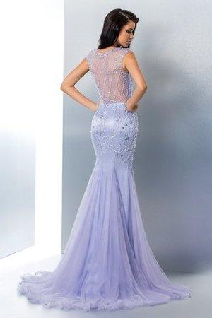 Meerjungfrau Stil Sweep Train Natürliche Taile Anständiges Abendkleid mit Perlen 1IJ1U2B6i