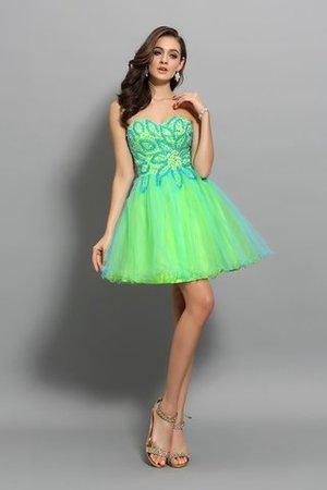 Empire Taille Prinzessin A-Linie Cocktailkleid mit Reißverschluss ohne Ärmeln ZpLS5rJIi