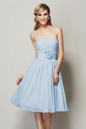 Chiffon A-Linie Prinzessin Knielanges Brautjungfernkleid mit Reißverschluss ICrMev