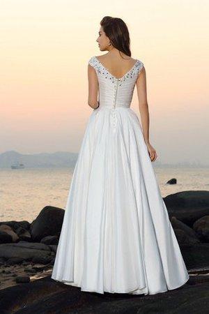 Beach Stil A-Linie Empire Taille Bodenlanges Brautkleid mit Applike VwnIpyLv4z