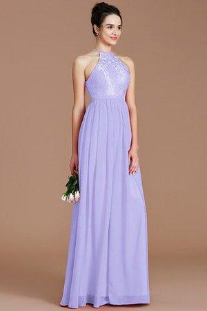 Natürliche Taile Prinzessin Ärmelloses Nackenband Chiffon Brautjungfernkleid Nqa3wQpn