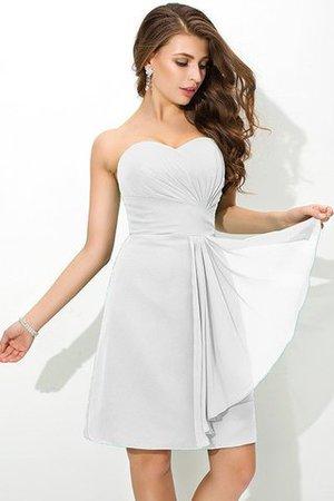 Reißverschluss Plissiertes Enganliegendes Kurzes Brautjungfernkleid aus Chiffon rtgl1z
