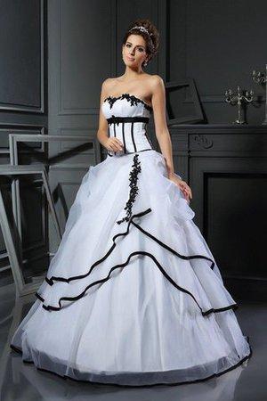 Duchesse-Linie Ärmelloses Normale Taille Bodenlanges Sittsames Brautkleid 281iDTu3h