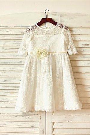 Reißverschluss A-Line Normale Taille Prinzessin Blumenmädchenkleid mit Bordüre kYPU7