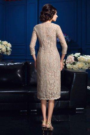 Ärmelloses Taft Knielanges Kurzes Brautmutterkleid mit Bordüre rO6IG