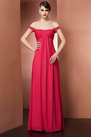 Chiffon Prinzessin A-Linie Bodenlanges Abendkleid mit Perlen ktLPZxetE
