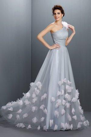 Prinzessin A-Line Reißverschluss Anständiges Bodenlanges Abendkleid y8gGt19