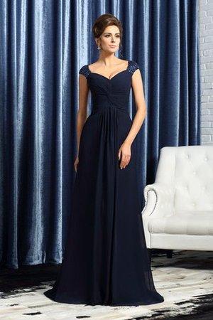 Reißverschluss Prinzessin Breiter Träger Anständiges Brautmutterkleid mit Perlen chss5LSz