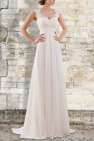 Empire Taille Attraktiv Chiffon Normale Taille Empire Brautkleid mit Bordüre