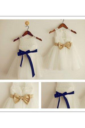 A linie Prinzessin Normale Taille Blumenmädchenkleid mit Reißverschluss mit Blume sAGBC2Ny
