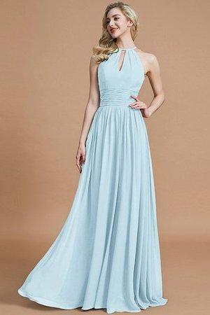 Prinzessin A-Line Ärmelloses Brautjungfernkleid aus Chiffon mit Natürlicher Taille s6Zn0a