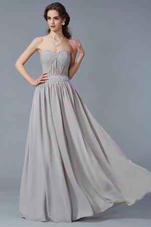 A Linie Prinzessin Perlenbesetztes Chiffon Bodenlanges Abendkleid MA487TfsX