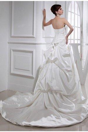 Prinzessin a linie Kapelle Schleppe Anständiges Brautkleid mit Applikation - Bild 2