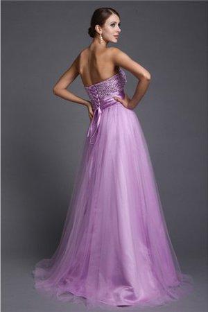 Perlenbesetztes trägerlos Prinzessin Sittsames Abendkleid mit Rücken Schnürung CBnQhkvJ1U