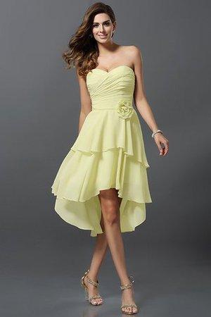 A-Linie Prinzessin Chiffon Reißverschluss Brautjungfernkleid mit Herz-Ausschnitt gtCLy2gBC