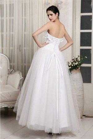 Organza Herz-Ausschnitt Sittsames Brautkleid mit Rücken Schnürung mit Perlen cJDzAkS4w