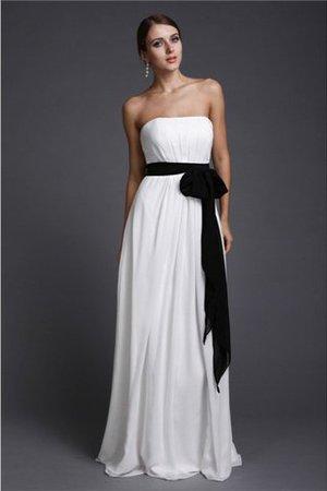 Ärmellos Bodenlanges Sittsames Brautjungfernkleid mit Gürtel mit Reißverschluss xvUo3Db8E