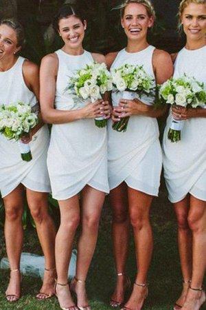 Etui Chiffon Normale Taille Schaufel-Ausschnitt Mini Brautjungfernkleid Iuzz4iJA
