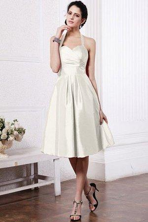 A-Linie Drapiertes Mini Brautjungfernkleid aus Taft mit Plissierungen l0vpJ11