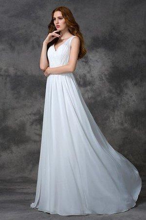 Perlenbesetztes Prinzessin Ärmelloses Sweep train Brautkleid mit V-Ausschnitt F7CFlX